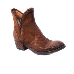 Pantanetti Modern Western Inspired Ankle Boot